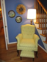 Entry Way yellow chair