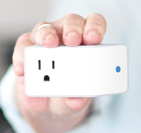 Evermind Plug in used to track use of appliances by seniors and special needs adults living independently
