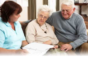 Helping Elderly Couple with Paperwork