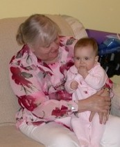 Mom with grand-daughter Addie.