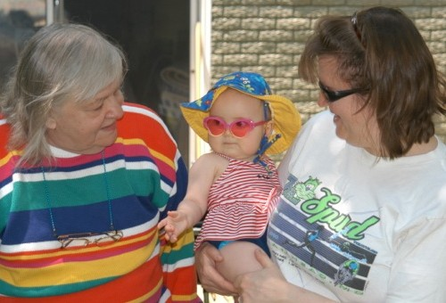 Grandma with Karen and Addie